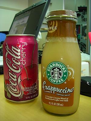 アメリカ直輸入のコカコーラチェリーとスターバックス