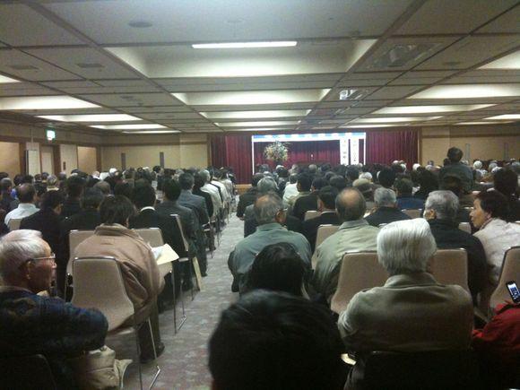 柳井クルーズホテルにて田原総一郎の地域振興講演会