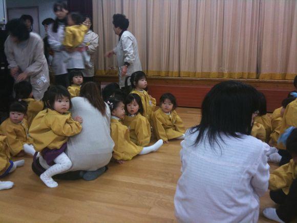 今から久賀保育園のお遊戯会の開会式です。
