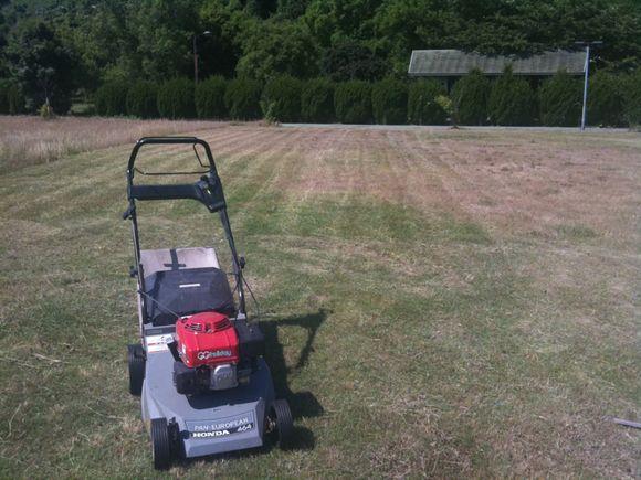 陸奥キャンプ場の芝刈り気持ち良いです!