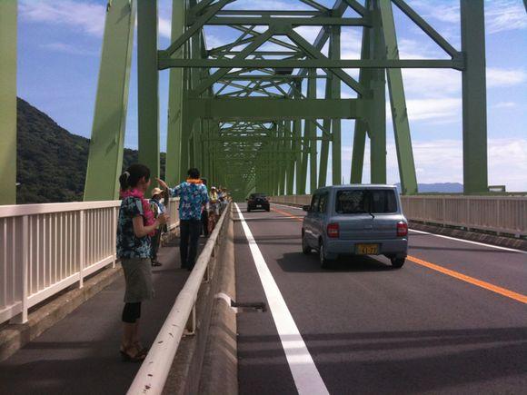 大島大橋でアロハレインボーブリッジ!