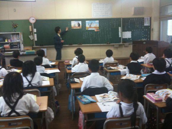 久賀小学校の参観日は道徳