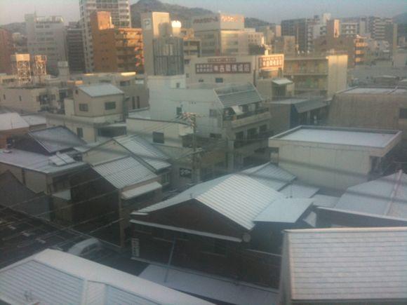 いざ大阪へ!広島は雪国となっていてびっくり!!