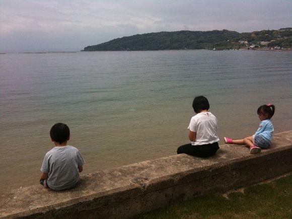糸島半島のトラットリアジロ前ビーチ