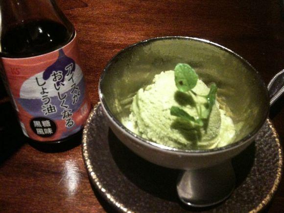 川中醤油の醤油かけアイス