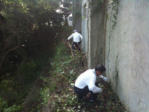 油田小学校の環境整備活動のお手伝い