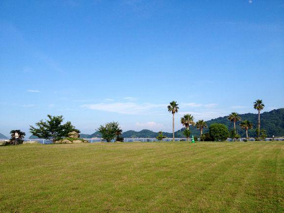 刈りたての芝生広場 in 陸奥キャンプ場