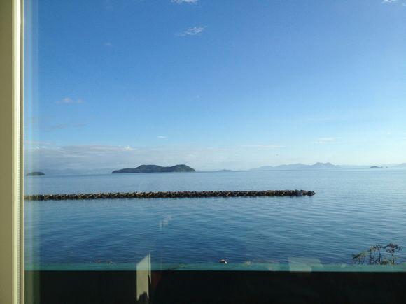 わが家から望む周防大島、久賀のモーニングスケープ