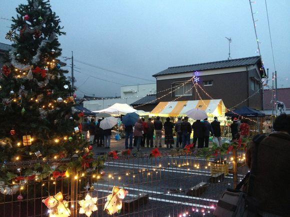 久賀商店街にてクリスマスキャンドルフェスタ