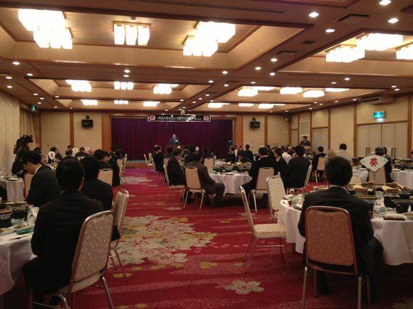周防大島町商工会新年互礼会、盛況です!
