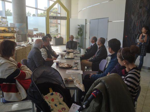 陸奥記念館にて池田龍雄氏を囲む茶話会を開催しました。