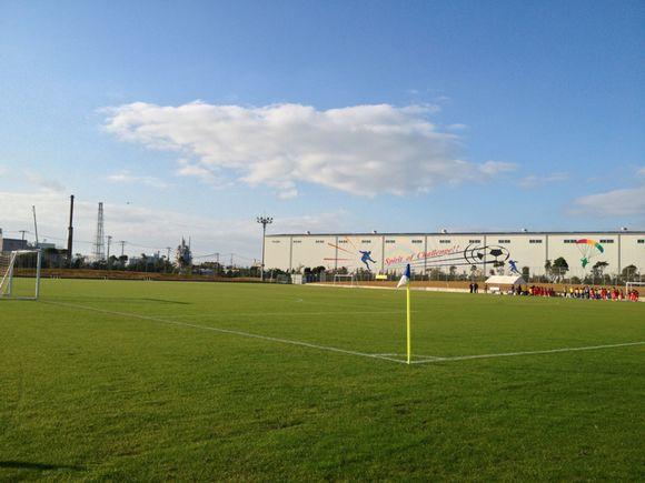 おのだサッカー交流公園で試合です!ここは山口県の指定管理者。