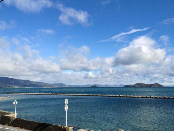 わが家から岩国・広島方面を眺める