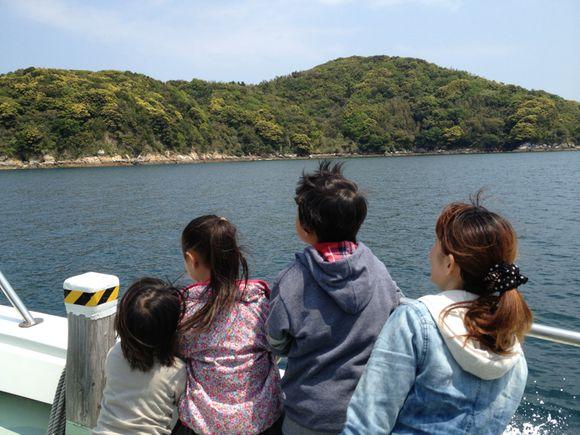 前島へ冒険の旅へ。スナメリ見られるかな。